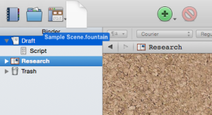 Drag the file into your Scrivener project - Convert plain text to script format in Scrivener