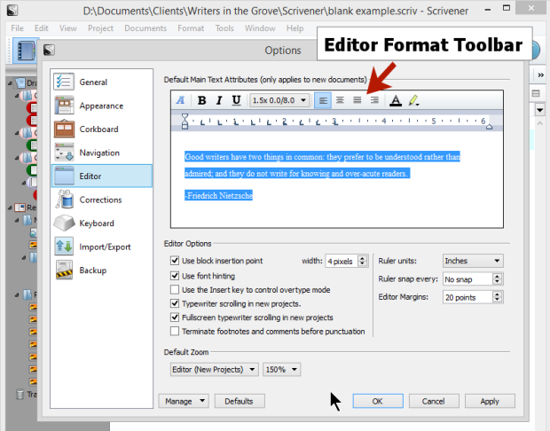 Convert document to folder - Scrivener View Modes