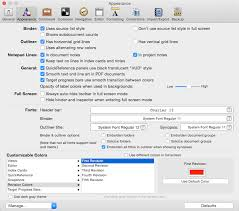 Format - Revision Mode - First Revision - Revision Colours in Scrivener