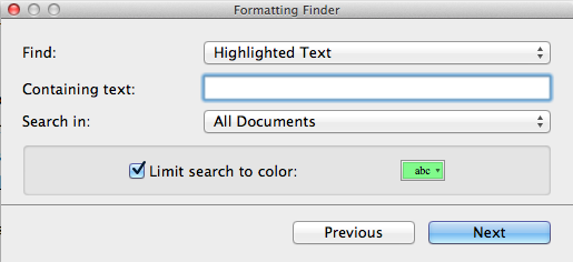 Script with red changes - Revision Colours in Scrivener