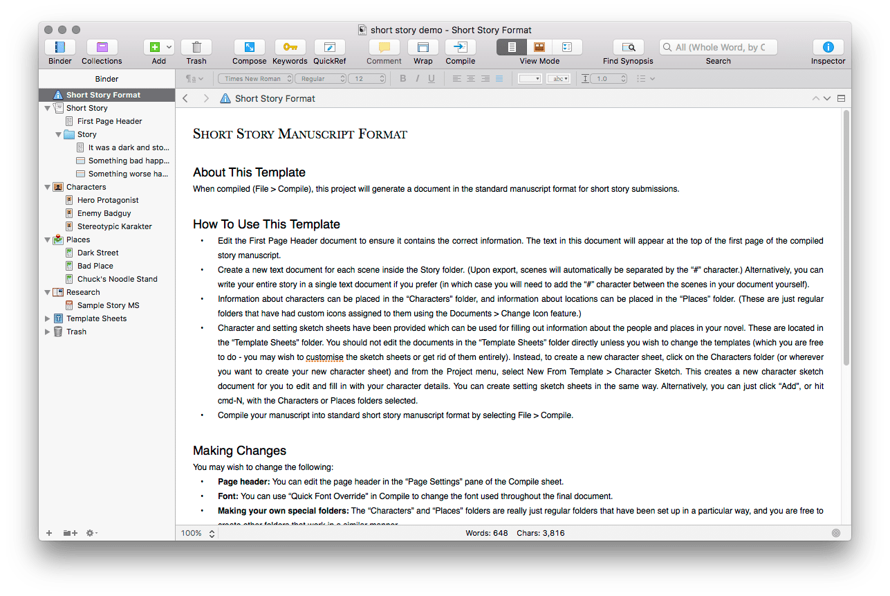 Change paper opacity - Distraction-free Writing in Scrivener