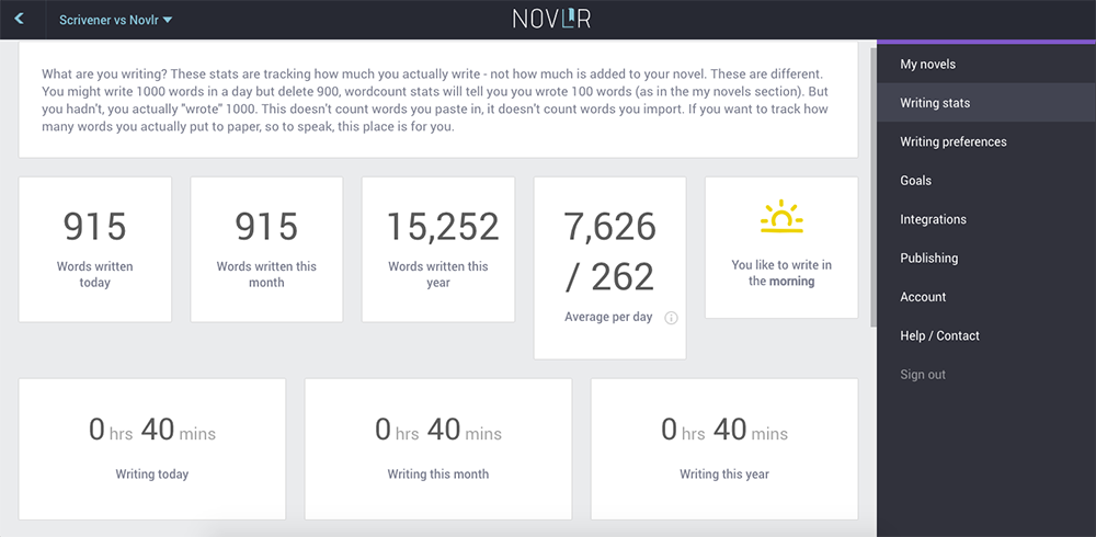 Versioning in Novlr (new feature) - Novlr Update - New Features (Versioning)