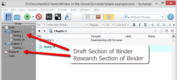 Export notes to Scrivener project - Scrivener's Scratchpad: ONE Advantage for Note-Taking