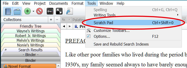 Scratchpad Settings - Scrivener's Scratchpad: ONE Advantage for Note-Taking