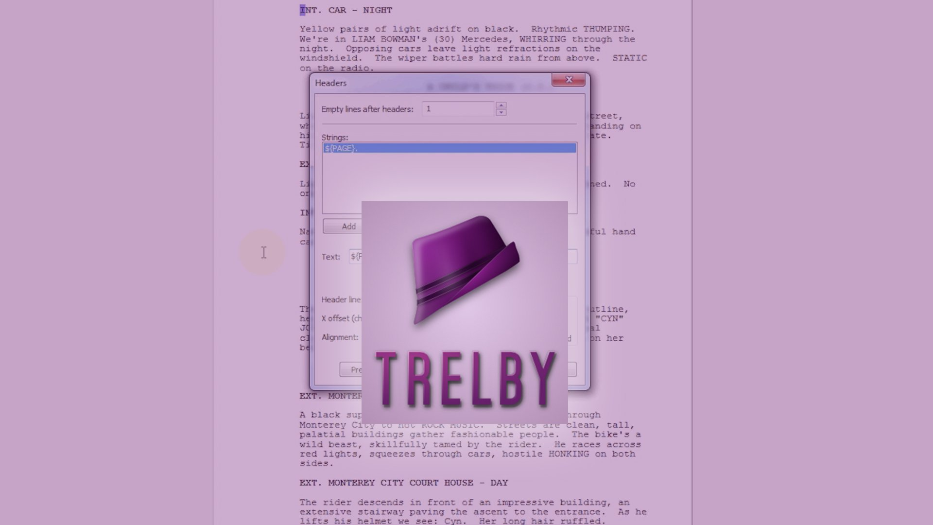 FREE: Trelby Screenwriting Software Review › Writer's Territory